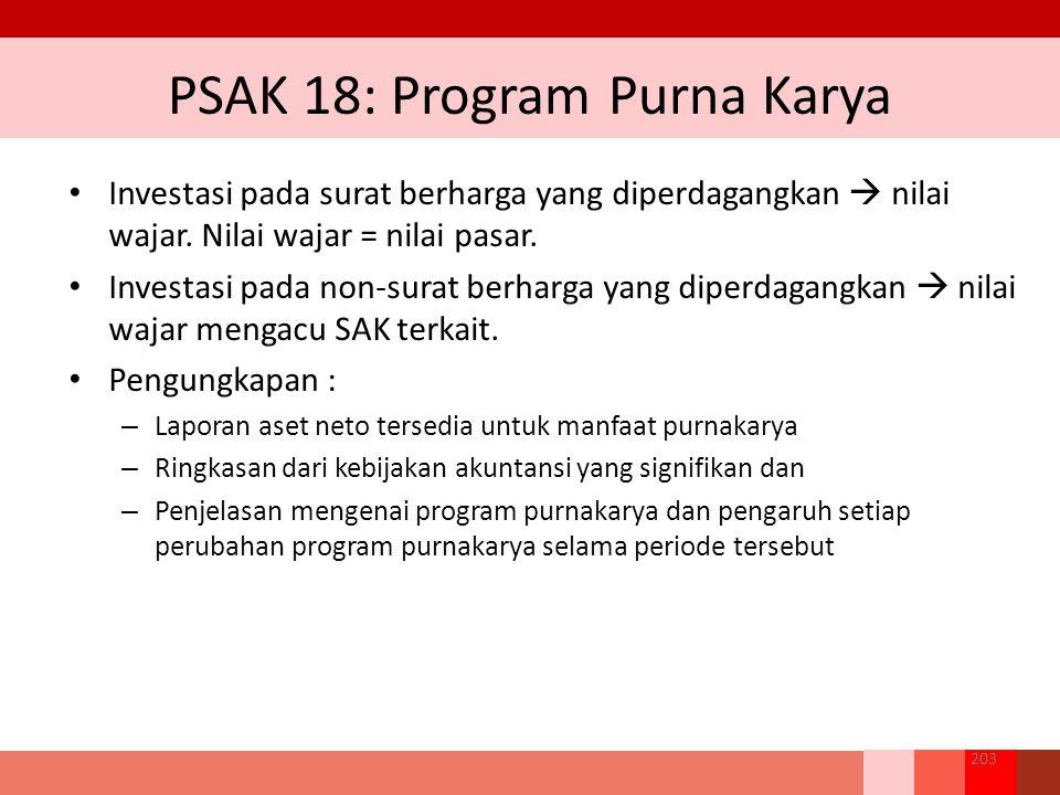 PSAK 18: Program Purna Karya