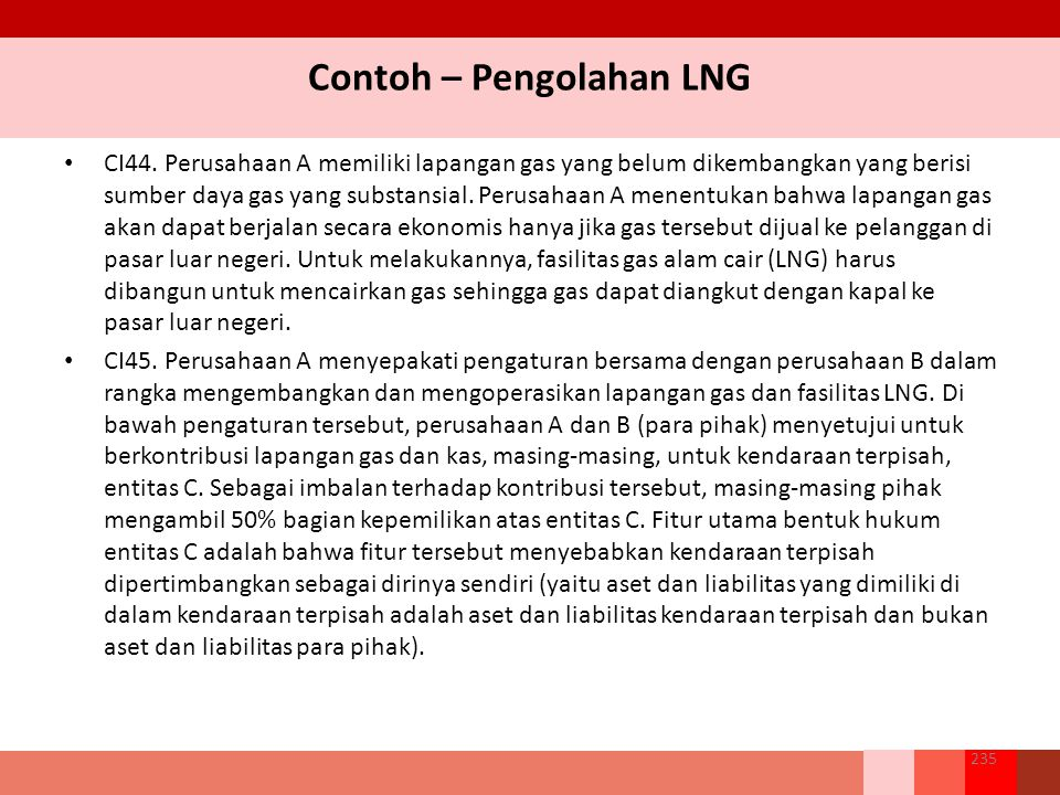 Contoh – Pengolahan LNG