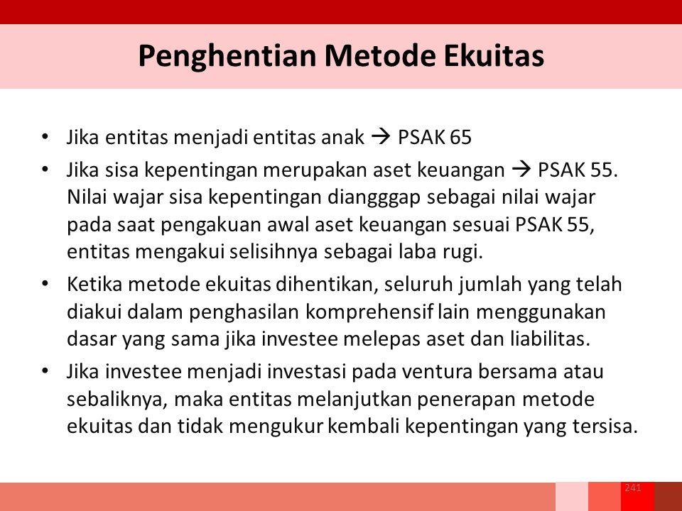 Penghentian Metode Ekuitas