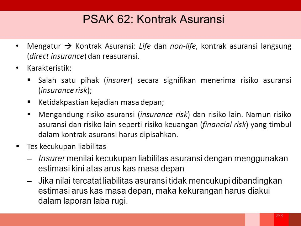 PSAK 62: Kontrak Asuransi