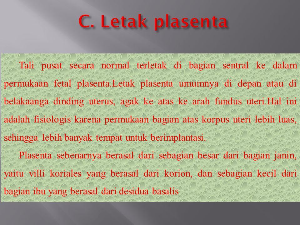 C. Letak plasenta
