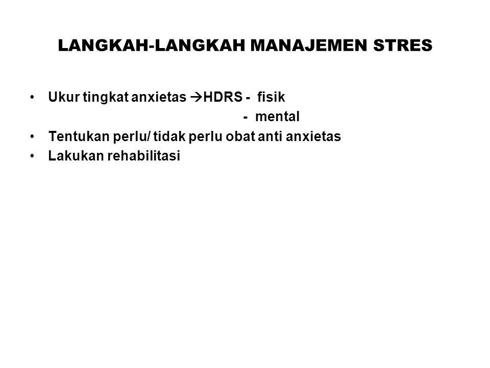 LANGKAH-LANGKAH MANAJEMEN STRES