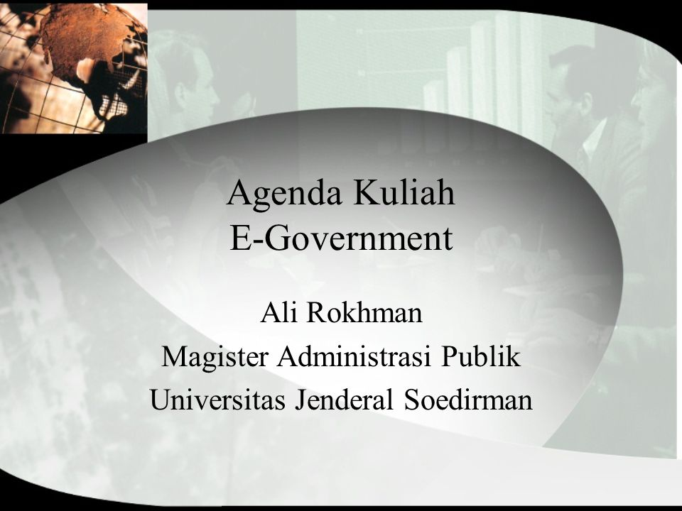 Agenda Kuliah E-Government