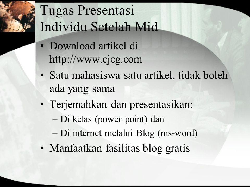 Tugas Presentasi Individu Setelah Mid