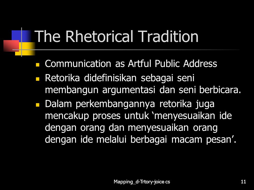 The Rhetorical Tradition