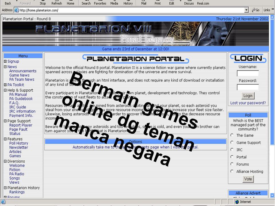 Bermain games online dg teman manca negara