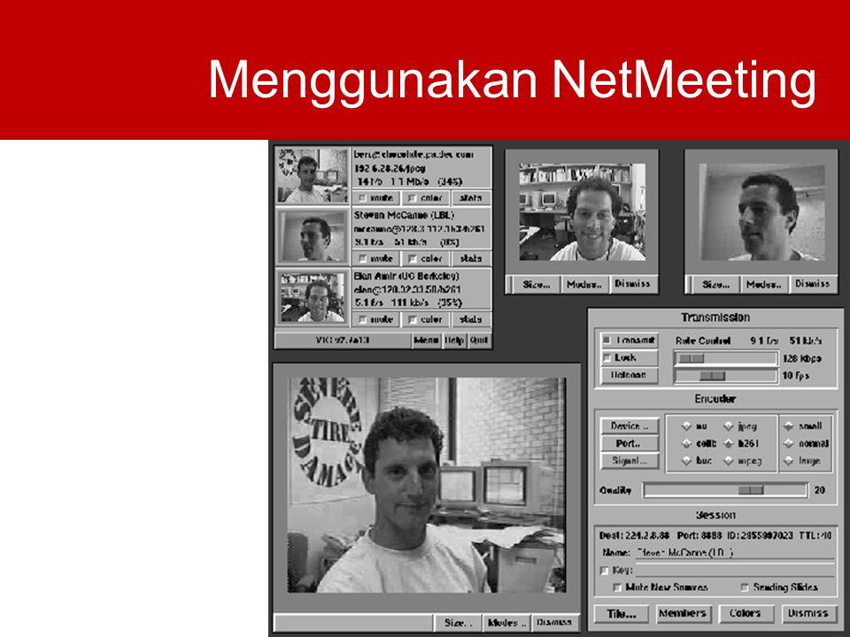 Menggunakan NetMeeting