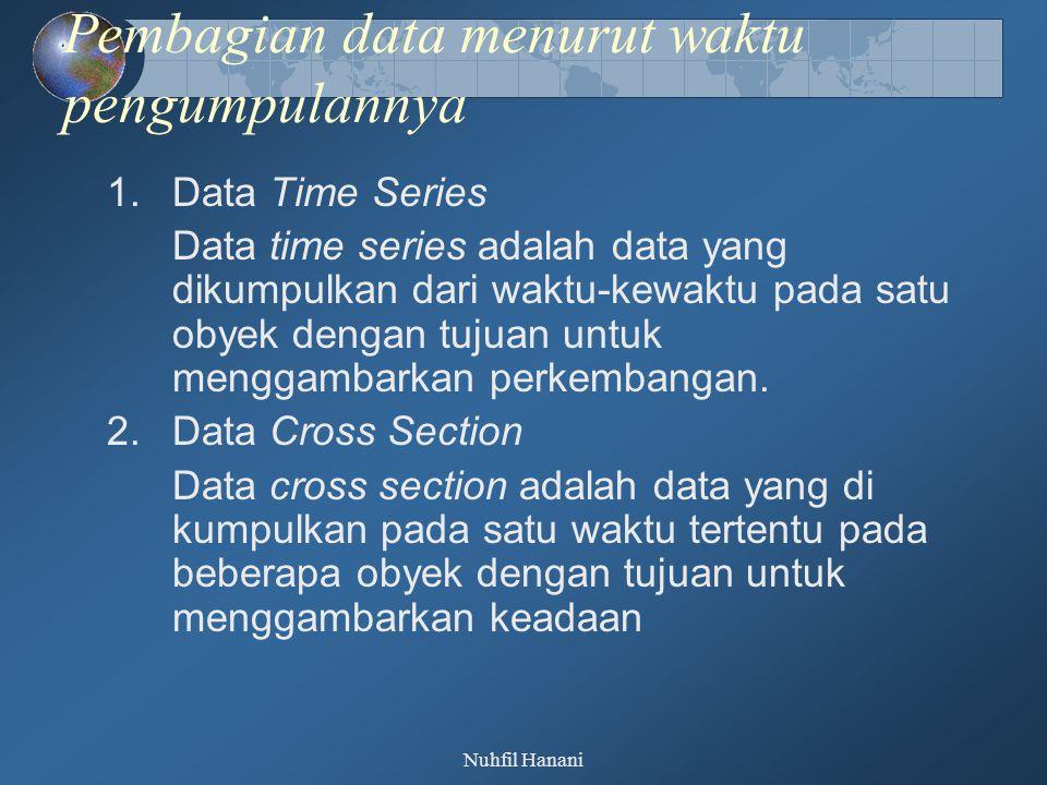 Pembagian data menurut waktu pengumpulannya