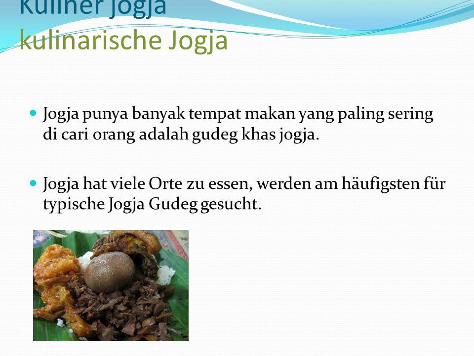 Kuliner jogja kulinarische Jogja