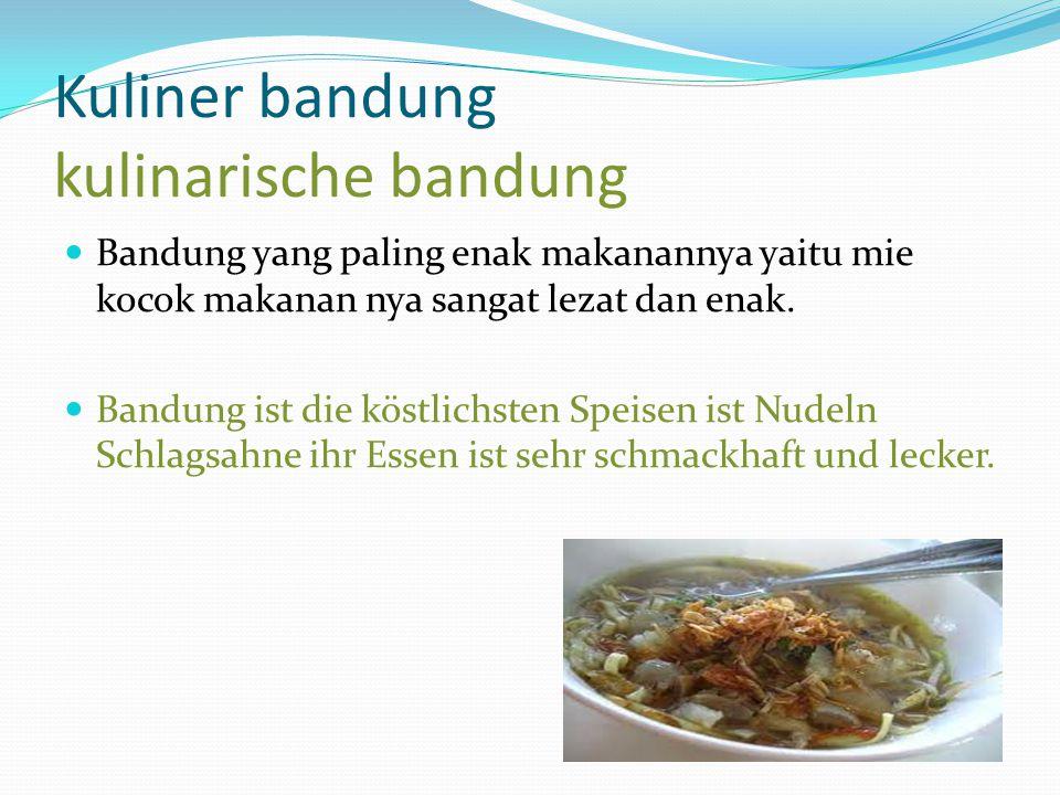 Kuliner bandung kulinarische bandung