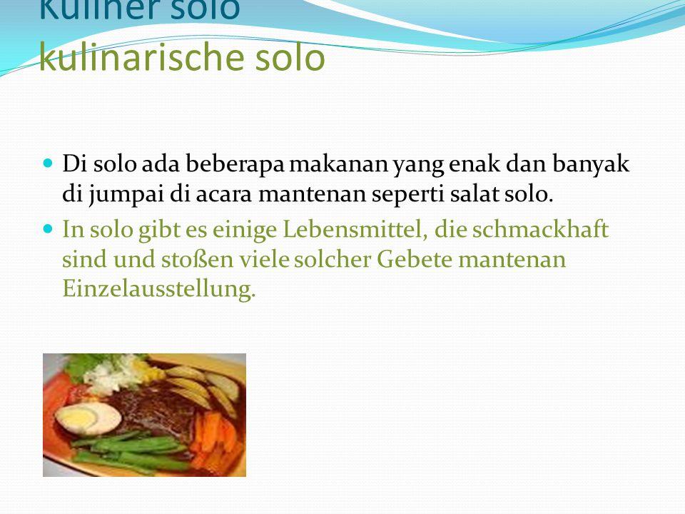 Kuliner solo kulinarische solo