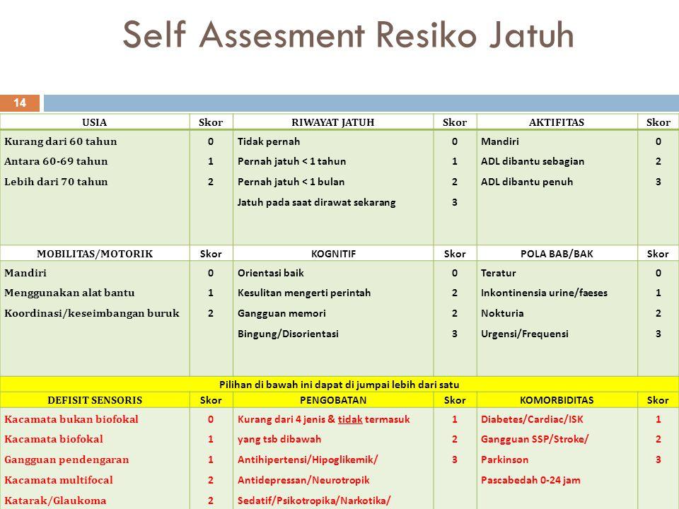 Self Assesment Resiko Jatuh