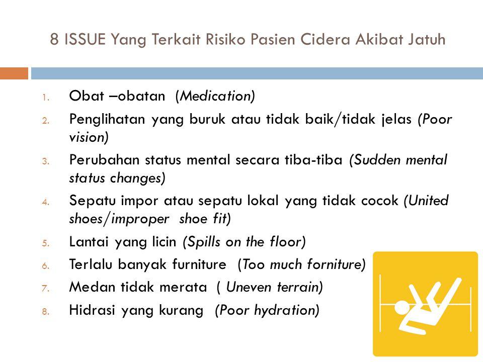 8 ISSUE Yang Terkait Risiko Pasien Cidera Akibat Jatuh