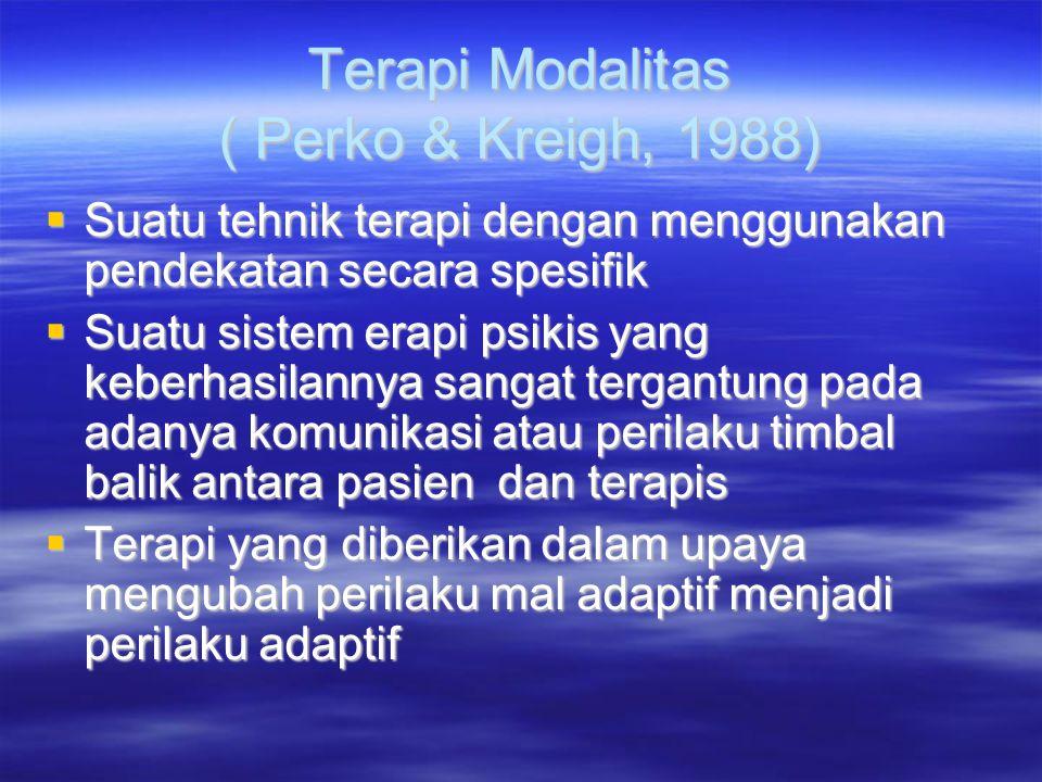 Terapi Modalitas ( Perko & Kreigh, 1988)