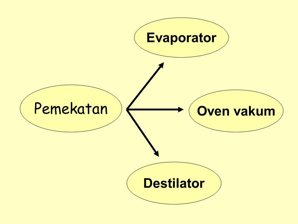 Evaporator Pemekatan Oven vakum Destilator