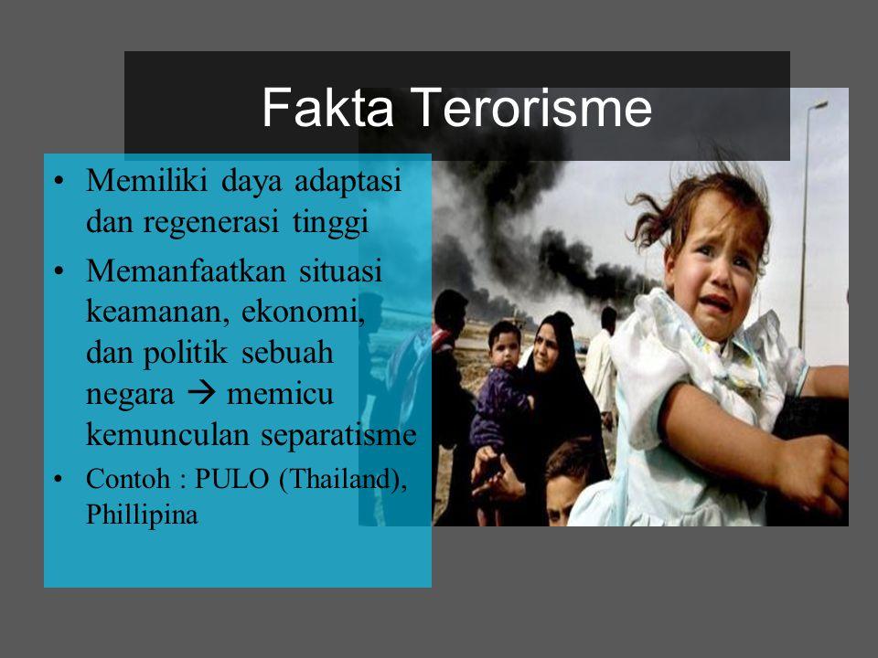 Fakta Terorisme Memiliki daya adaptasi dan regenerasi tinggi