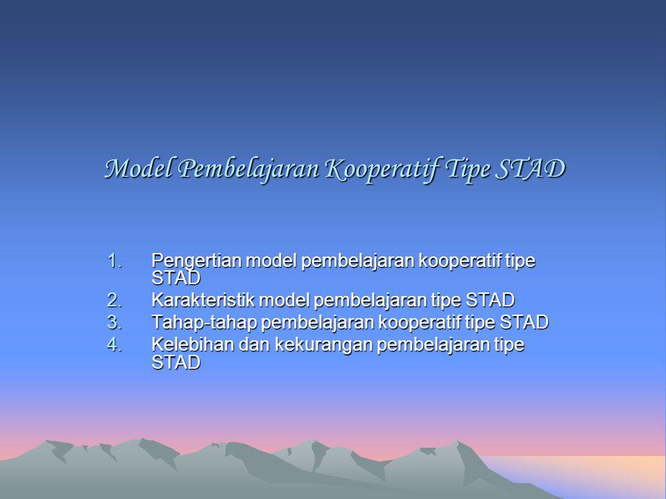 Model Pembelajaran Kooperatif Tipe STAD