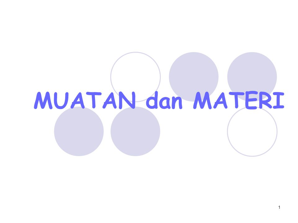 MUATAN dan MATERI