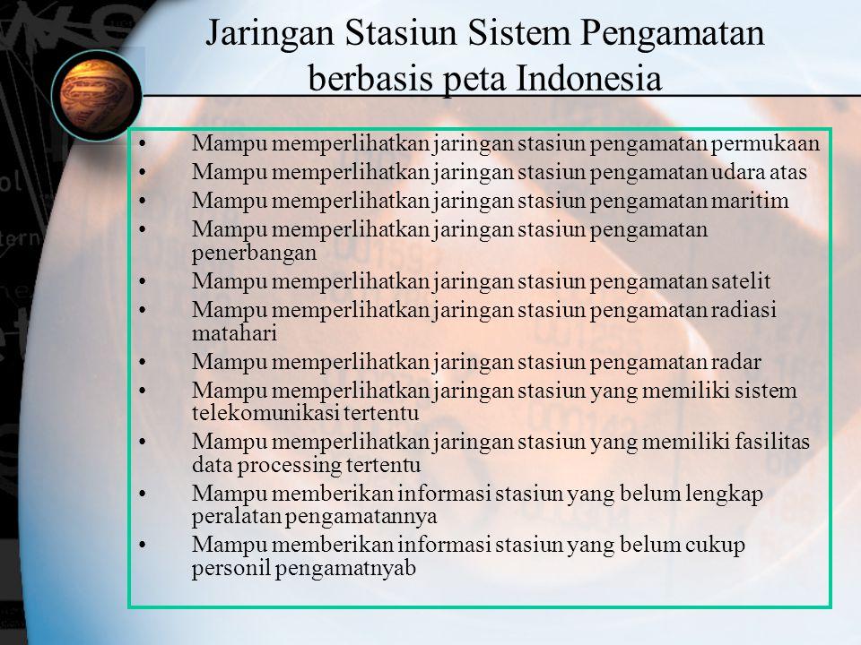 Jaringan Stasiun Sistem Pengamatan berbasis peta Indonesia