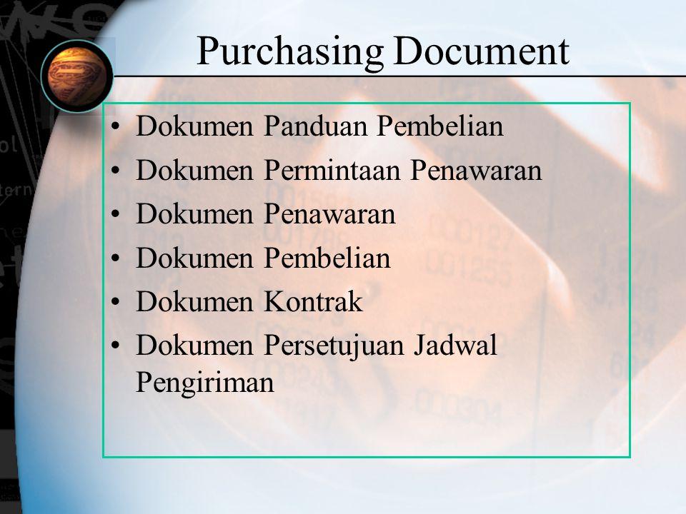Purchasing Document Dokumen Panduan Pembelian