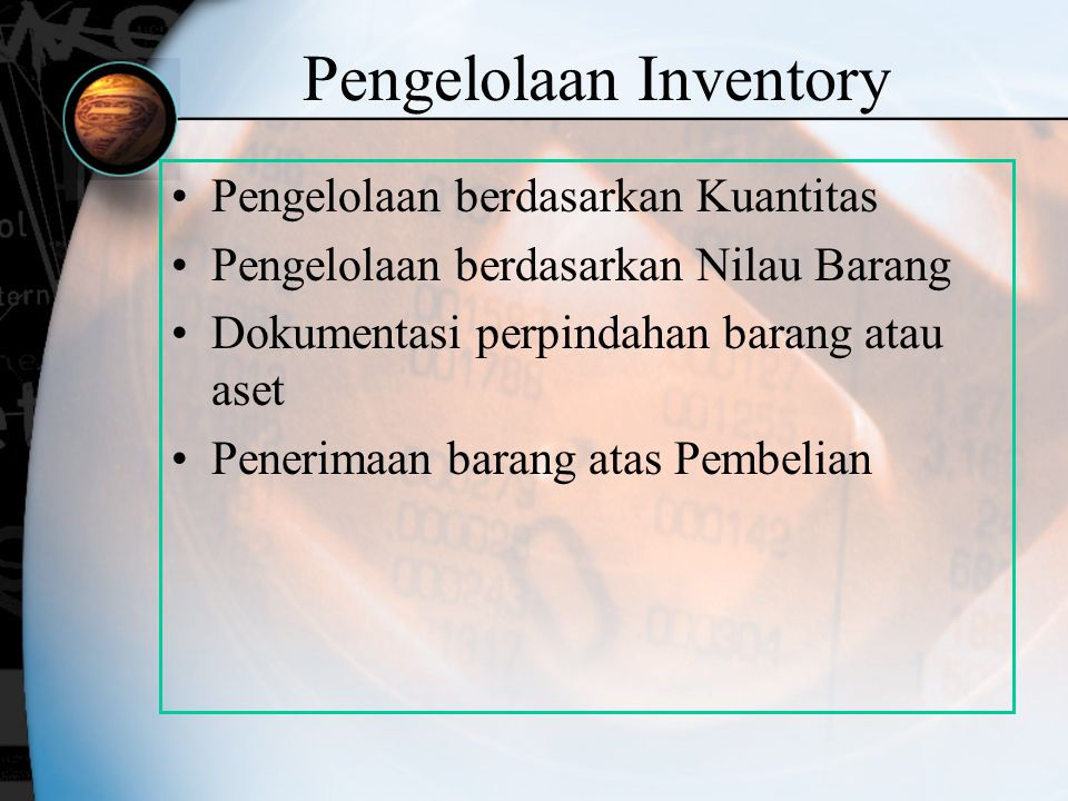 Pengelolaan Inventory