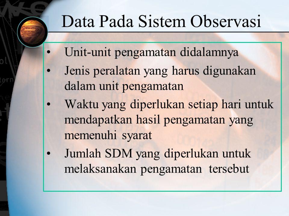 Data Pada Sistem Observasi