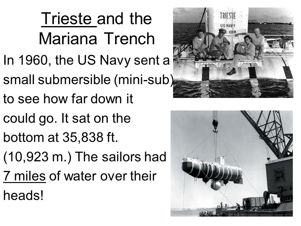 Trieste and the Mariana Trench