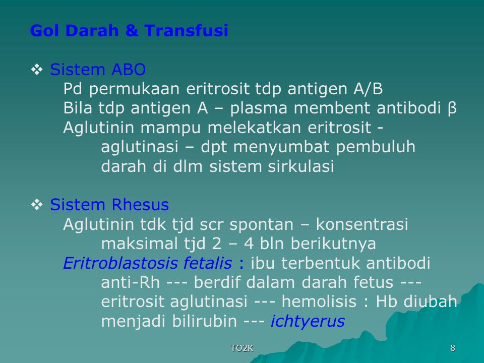 Pd permukaan eritrosit tdp antigen A/B