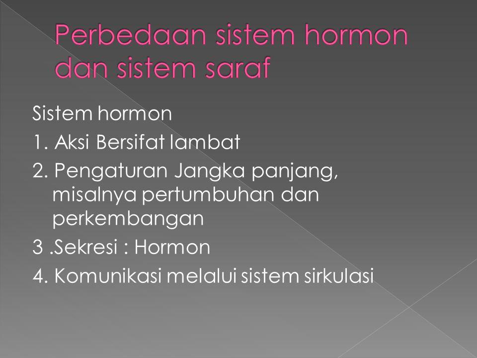 Perbedaan sistem hormon dan sistem saraf
