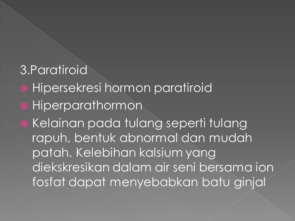 3.Paratiroid Hipersekresi hormon paratiroid. Hiperparathormon.