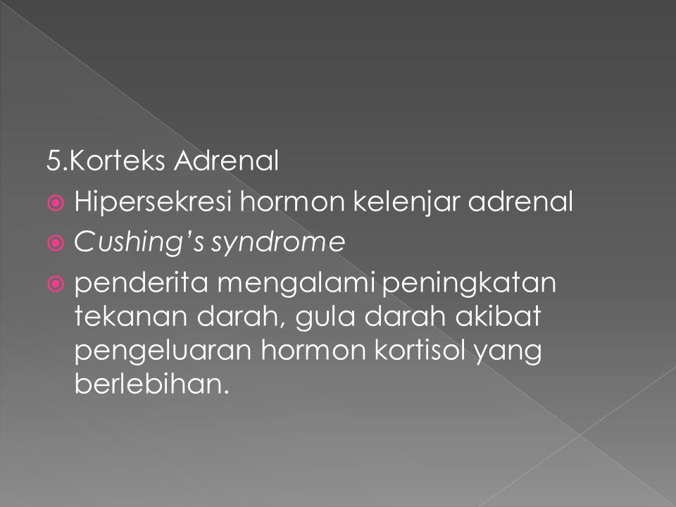 5.Korteks Adrenal Hipersekresi hormon kelenjar adrenal. Cushing's syndrome.