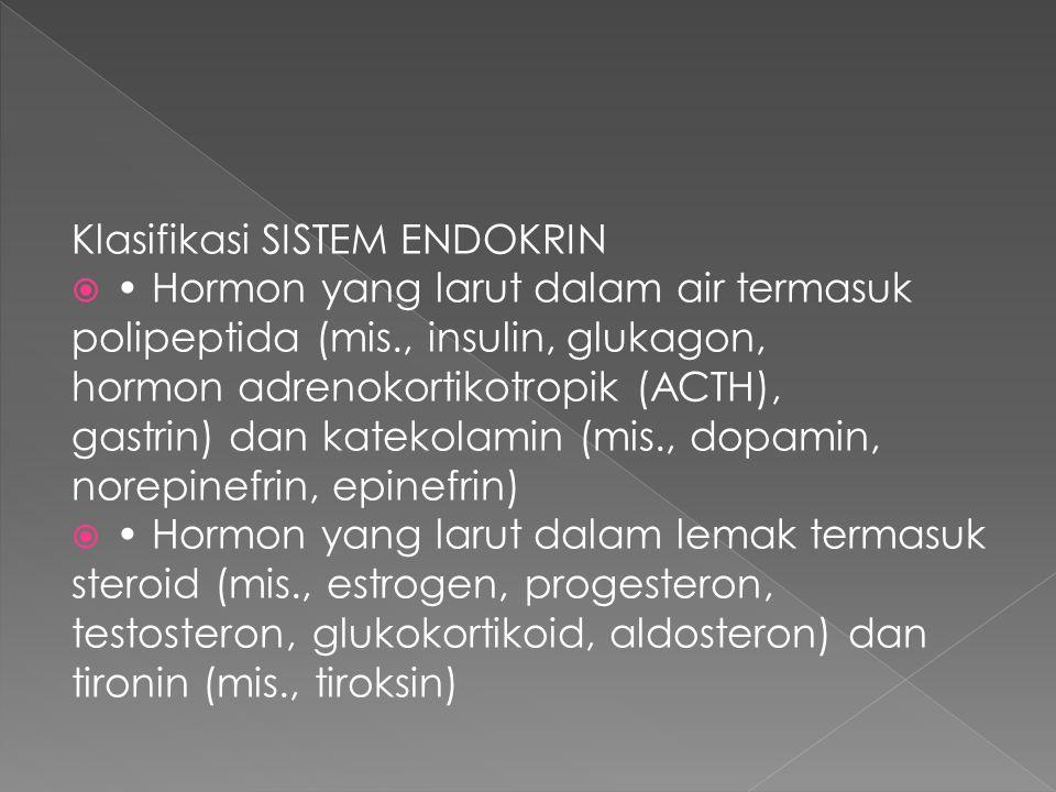 Klasifikasi SISTEM ENDOKRIN