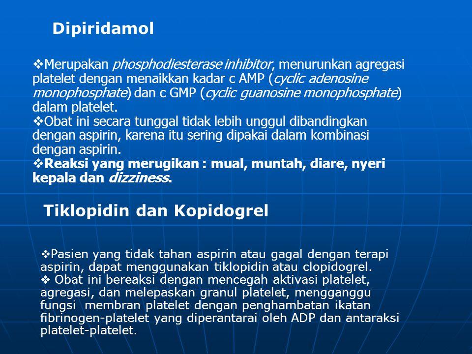 Tiklopidin dan Kopidogrel