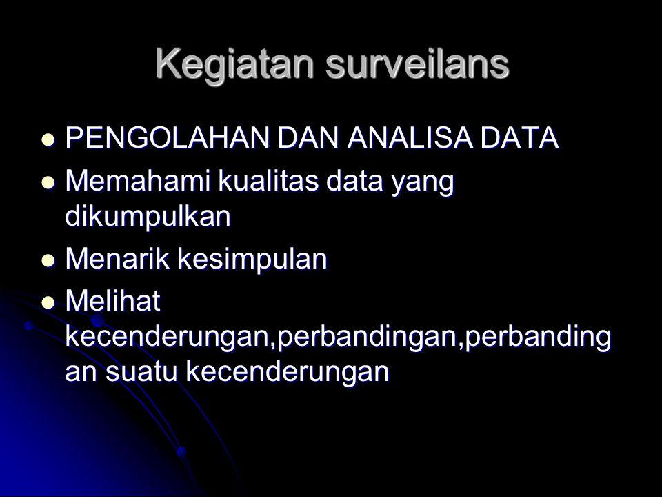 Kegiatan surveilans PENGOLAHAN DAN ANALISA DATA