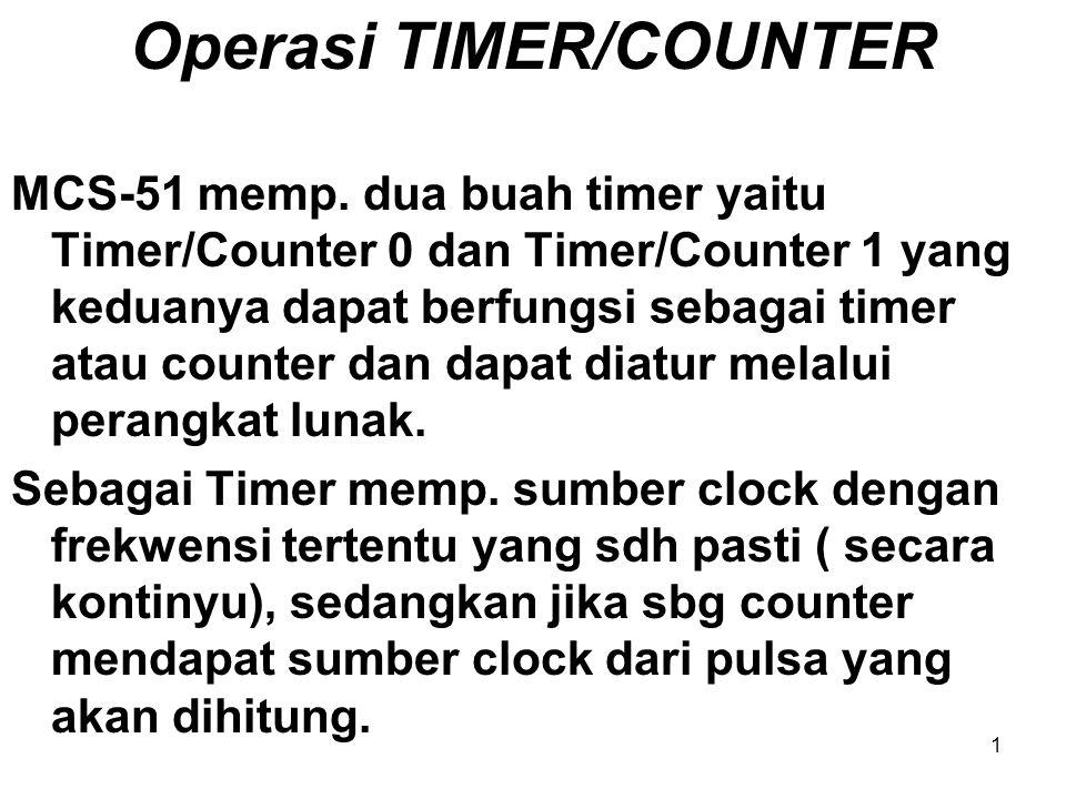 Operasi TIMER/COUNTER