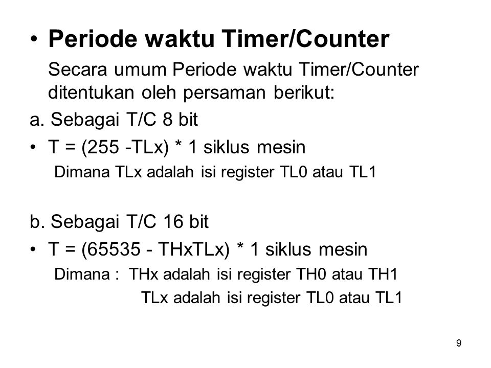 Periode waktu Timer/Counter