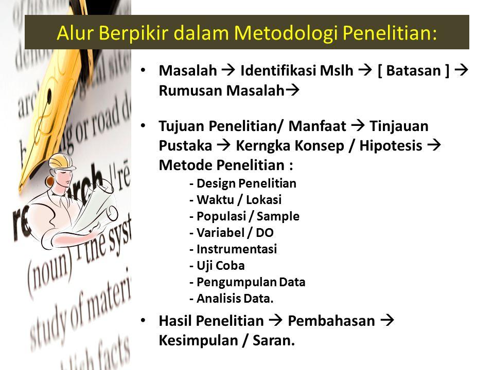 Alur Berpikir dalam Metodologi Penelitian: