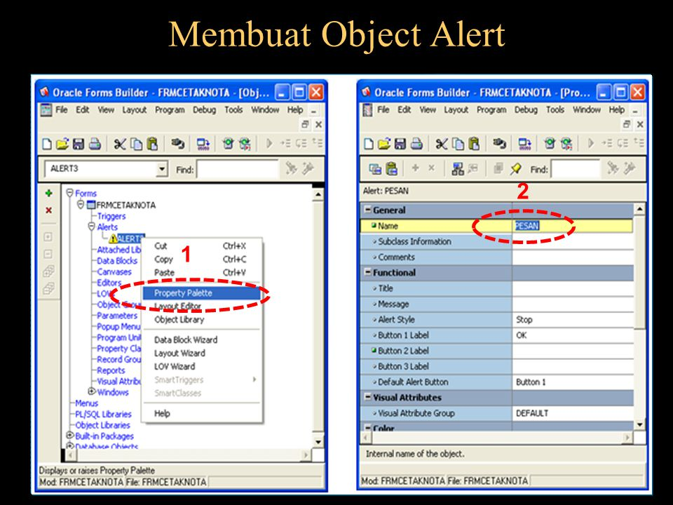 Membuat Object Alert 2 1