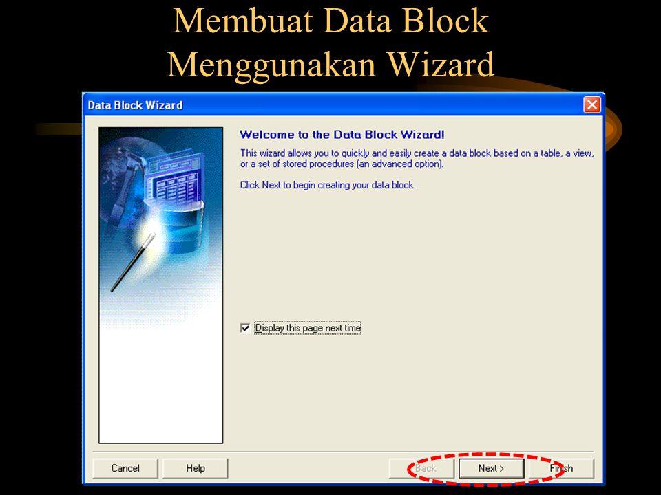 Membuat Data Block Menggunakan Wizard