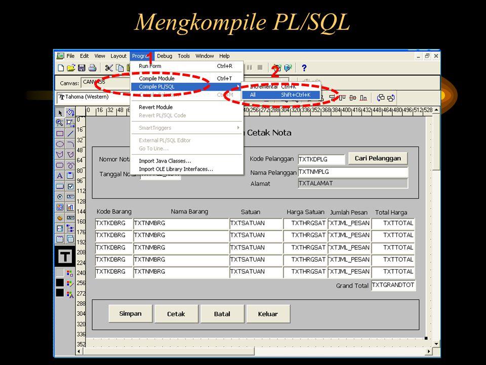Mengkompile PL/SQL 1 2