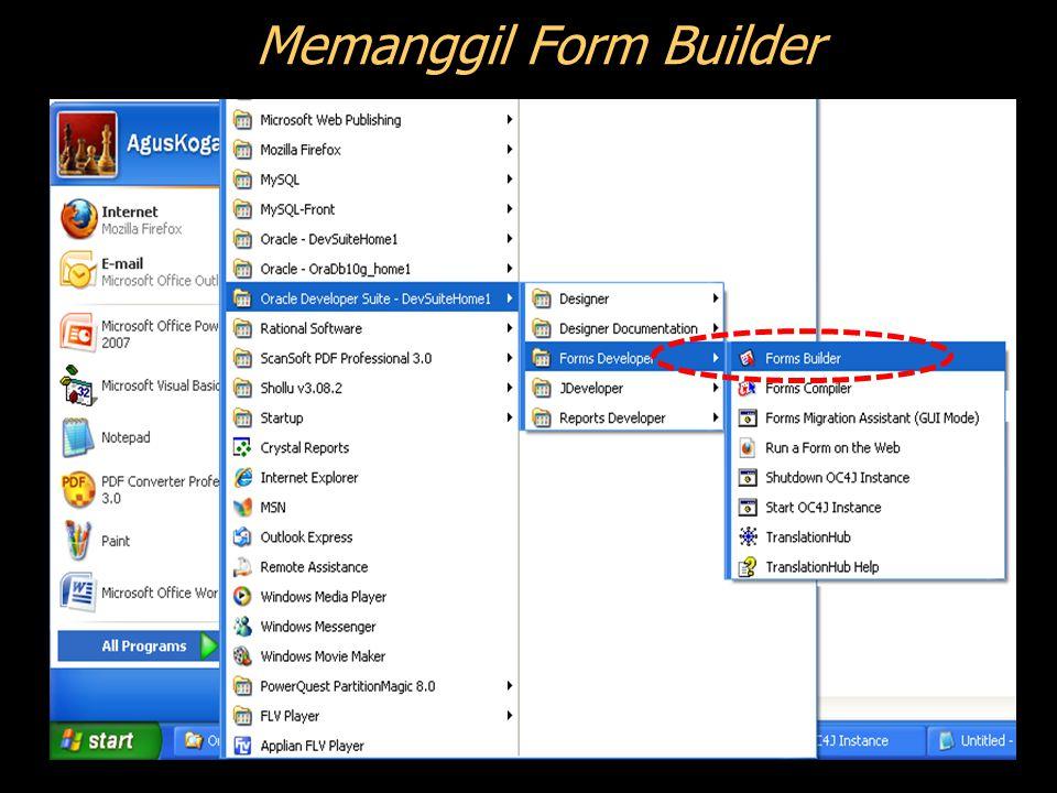 Memanggil Form Builder