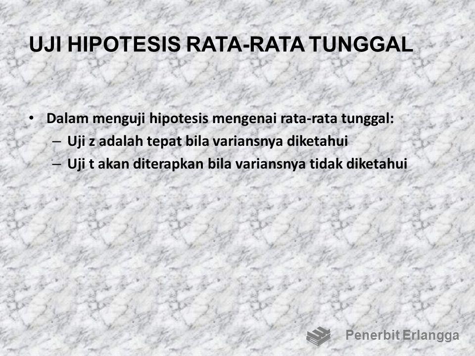 UJI HIPOTESIS RATA-RATA TUNGGAL