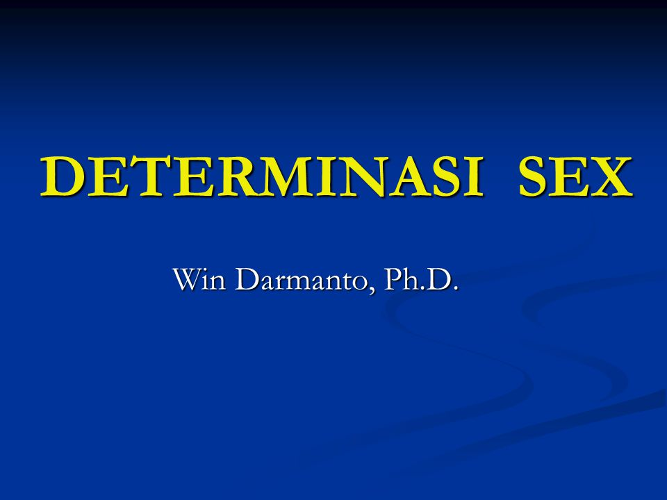 DETERMINASI SEX Win Darmanto, Ph.D.