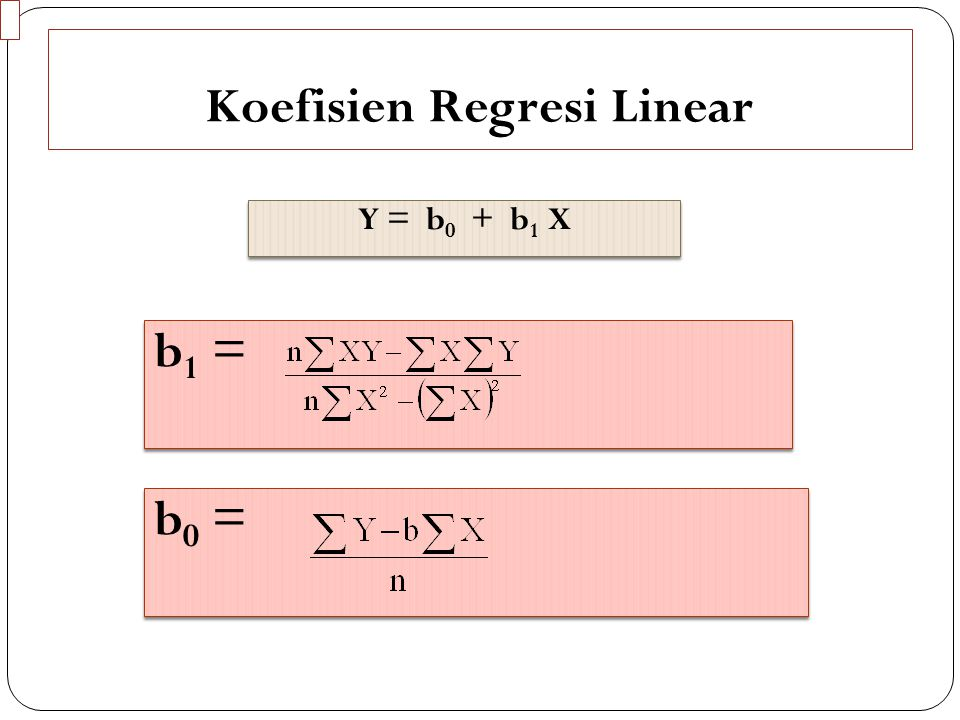 Koefisien Regresi Linear