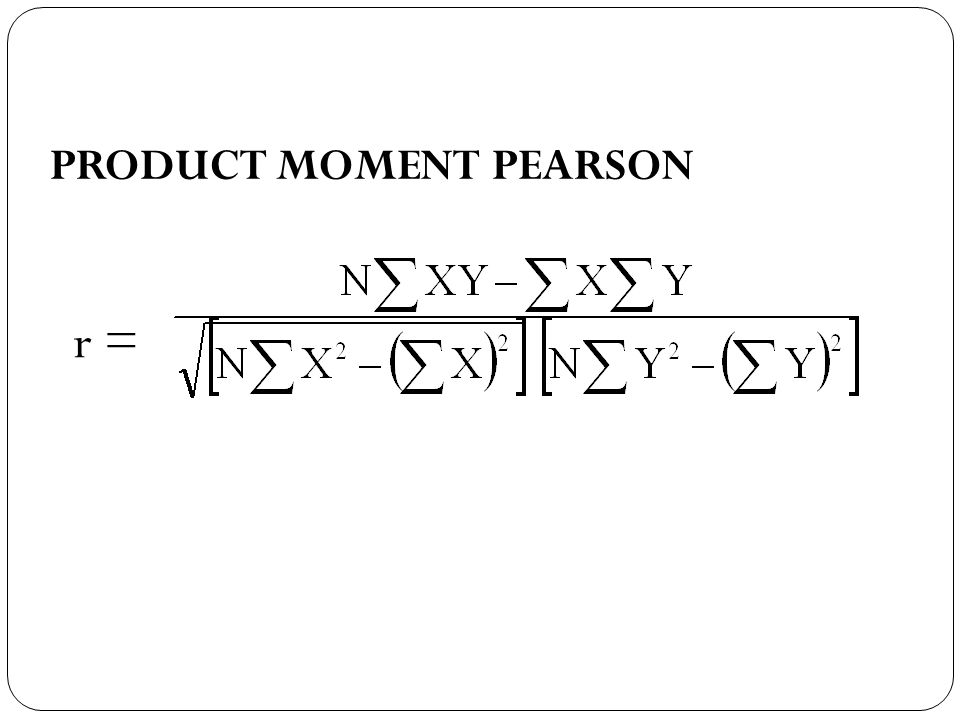 PRODUCT MOMENT PEARSON