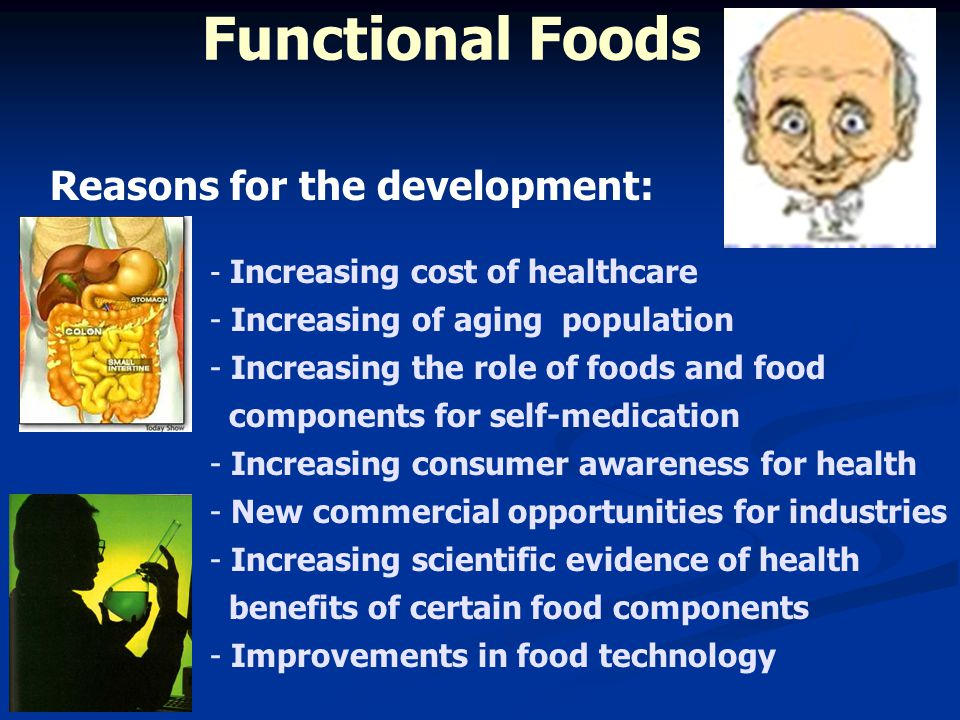 Functional Foods Reasons for the development: