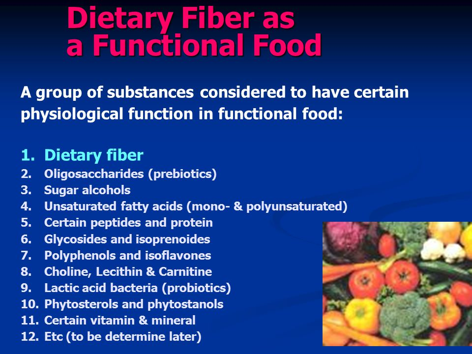 Dietary Fiber as a Functional Food