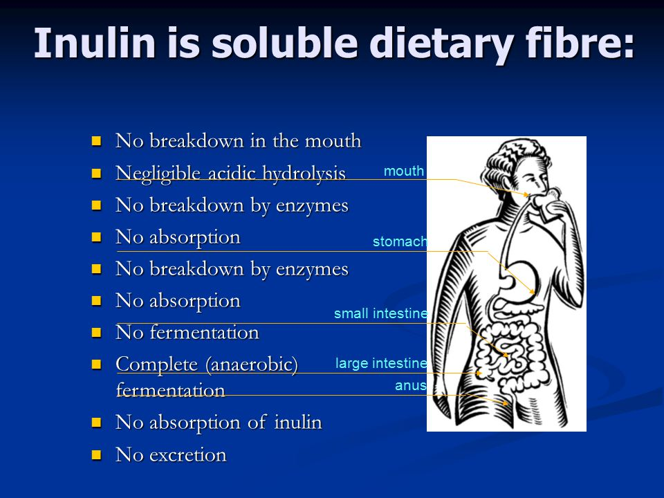 Inulin is soluble dietary fibre: