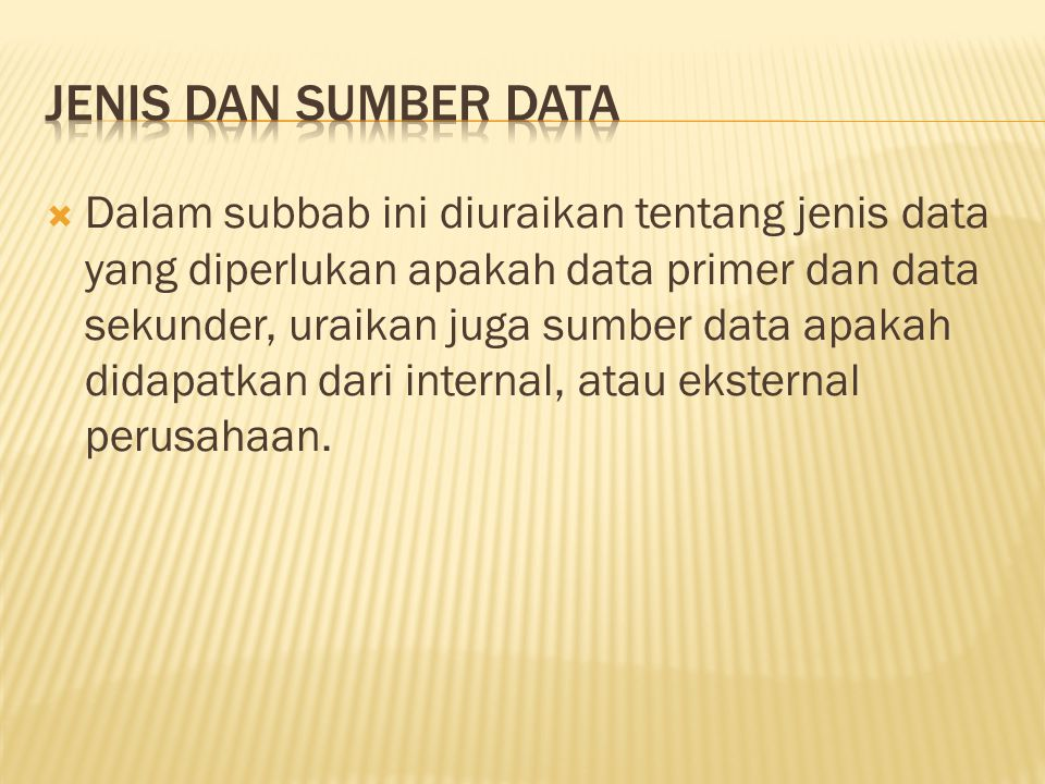 JENIS DAN SUMBER DATA