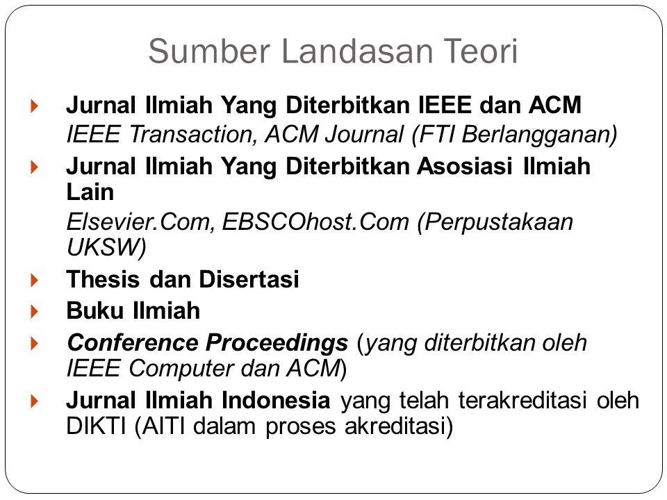 Sumber Landasan Teori Jurnal Ilmiah Yang Diterbitkan IEEE dan ACM